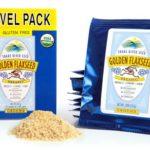 Farm Fresh 100% Natural Golden Flax Seed, Travel Pack, Freshly Ground, Organic, Gluten-Free, Non-GMO, Nutty Flavor