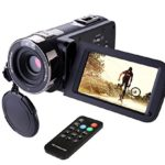 Camcorder, Hausbell 302S FHD Camcorder 1080p Digital Video Camera Remote Control Infrared Night Vision with 2 batteries and Touchscreen (Black)