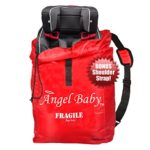 Angel Baby Car Seat Travel Bag Cover – DURABLE Polyester with SHOULDER STRAP, Water Resistant, Lightweight – Great for Airport Gate Check and Storage – Fits Carseats, Booster & Infant Carriers