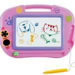 Magnetic Drawing Board For Kids- Erasable Colorful Magna Doodle Drawing Board Toys for Kids Writing Sketching Pad – Gift for Little Girls Kids Children Travel Size
