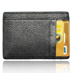 AIKELIDA Slim Wallet RFID Front Pocket Wallet Secure Thin Credit Card Holder