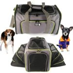 Pet Carrier for Dogs & Cats – Airline Approved Quality Expandable Soft Animal Carriers – Portable Soft-Sided Air Travel Bag – Best for Small or Medium Dog and Cat – Fits Under Front Airplane Seat