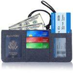 Travel Wallet Neck Pouch RFID Blocking Premium Safe & Reliable Holder Organizer for Money Passport, Credit Card and Document