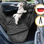 Dog Car Seat Cover for Cars, Trucks and SUVs | Premium Quality Hammock, Waterproof, Scratch Proof, Non-Slip, Durable Material | Pets Seat Covers by GloBal Pet + Bonus Dogs Seat Belt and Travel Bowl
