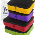 4 Travel Packing Cubes For Luggage Organizer / Suitcase + 6 Toiletry and Laundry Organizers