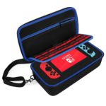 Nintendo Switch Carrying Case by DOUBI – Ideal for Travel or Home Storage – Shoulder Strap and Custom Interior Included