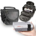 Orzly Travel & Storage Bag for Nintendo NES Classic Edition (New 2016 Model Mini Version of NES Console) – Fits Console + Cable + 2 Controllers – Includes Shoulder Strap + Carry Handle – BLACK