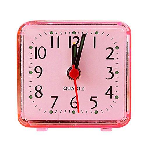 CieKen Simple Bedroom Alarm Clock, Silent Non Ticking Analog Small  Lightweight Alarm Clock, Sound Crescendo, Mini Sized Travel Quartz Alarm  Clock, ...